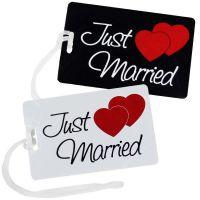 Hochzeitsreise - Kofferanhaenger mit Just Married-Motiv