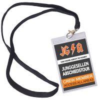 JGA-Ausweis mit Abschiedstour-Motiv im Hard Rock Backstage Stil