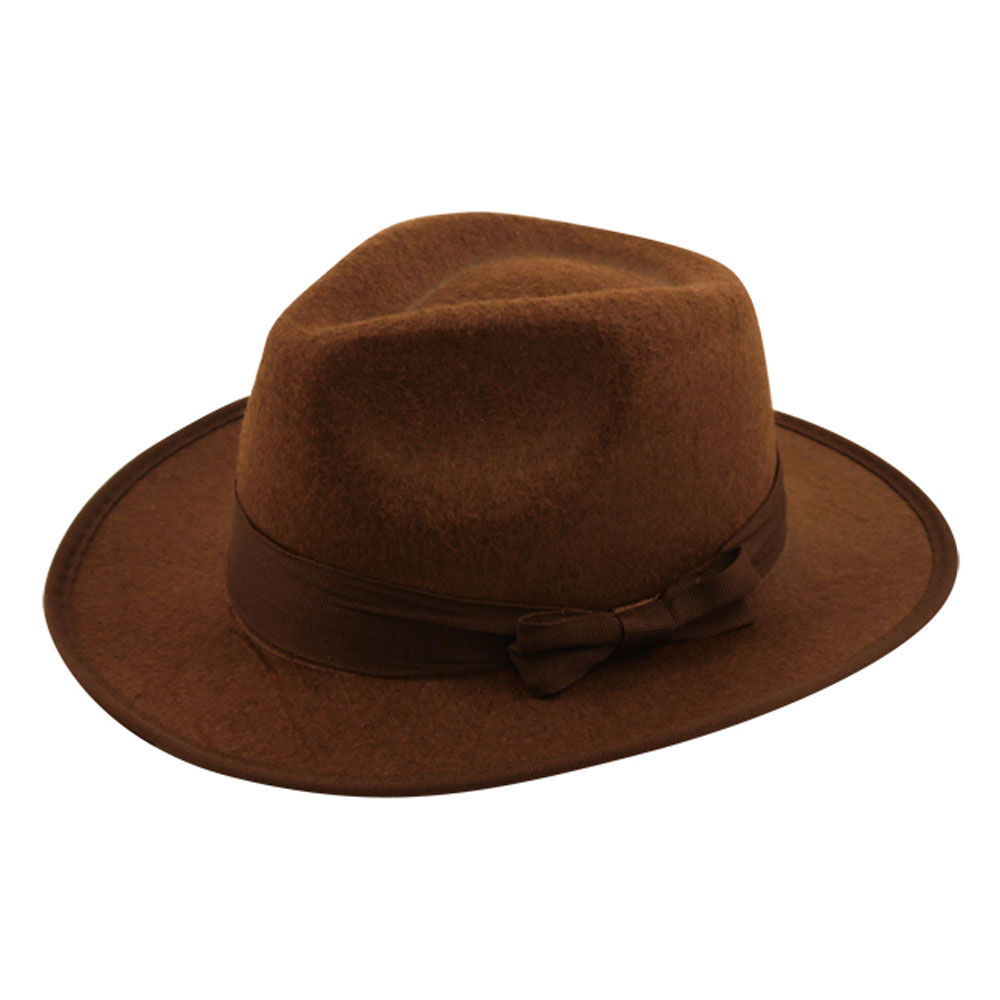 Brauner Abenteurer-Hut mit Hutband