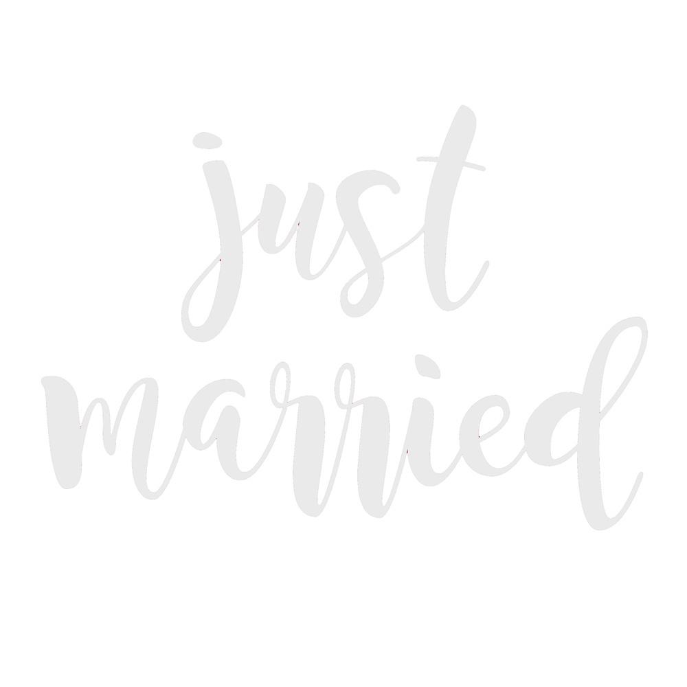 Just Married-Aufkleber als Hochzeitsauto-Deko