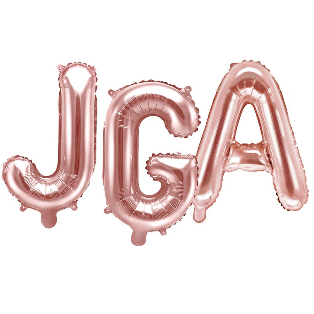 JGA Folienballons in Rosé-Gold.