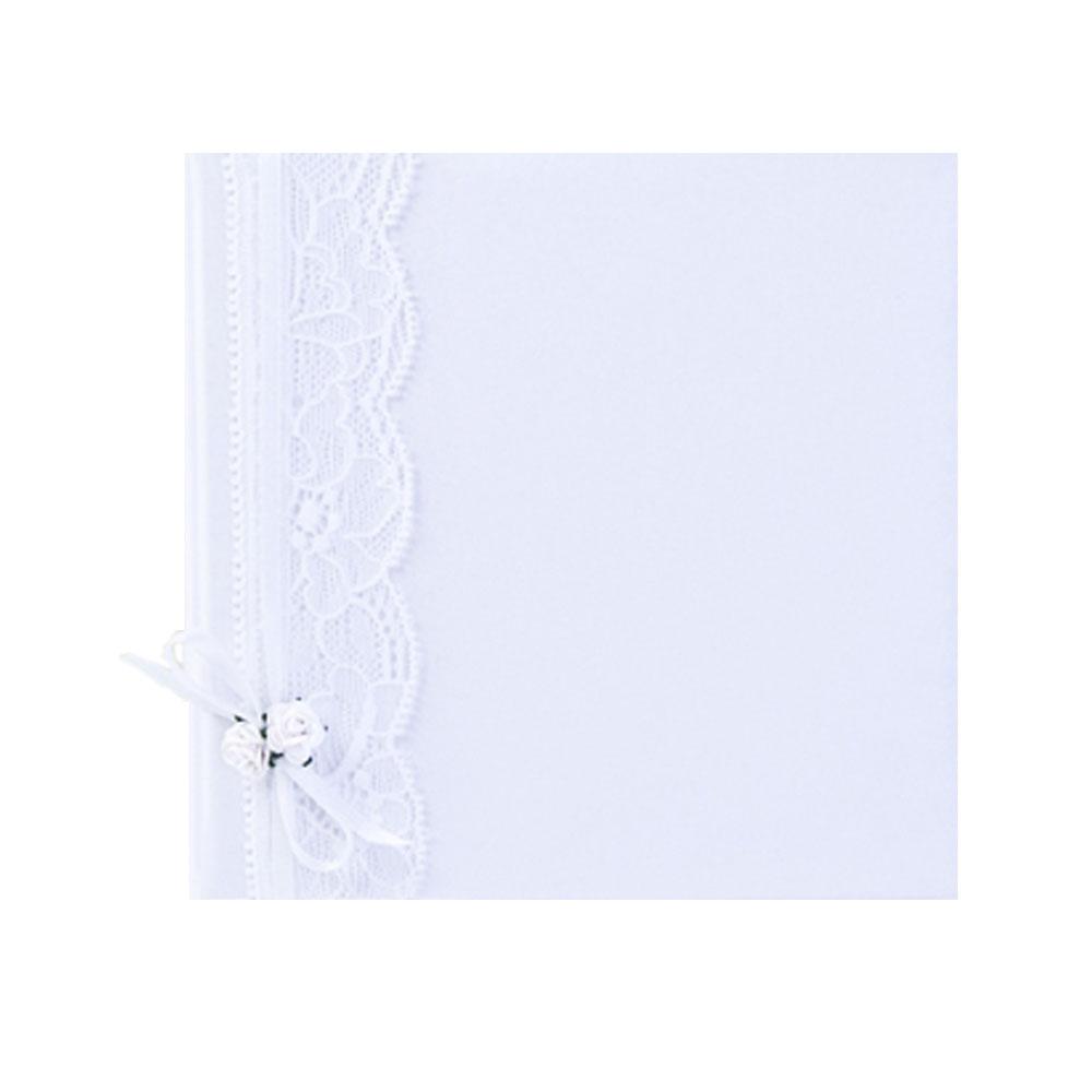 CD/DVD Hülle in Weiß mit Spitzendekoration