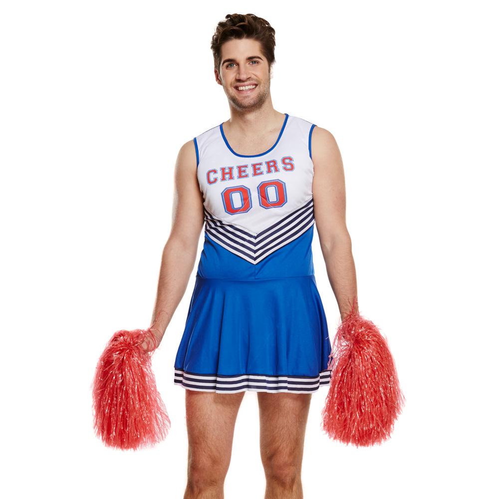 Herren Cheerleader Kostüm-Kleid für den Männer-JGA