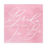 "Servietten ""Bride to be"" - Rosa"