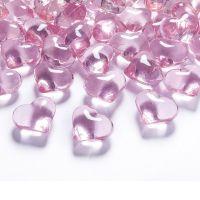 Deko-Herzen aus Acryl in Rosa