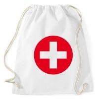 Weiße Rucksack-Tasche im Krankenschwester-Kostüm-Design