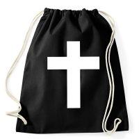 Rucksack mit weißem Kreuz als Nonnenkostüm-Accessoire