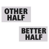 "Foto-Schilder ""Other Half"" und ""Better Half"""