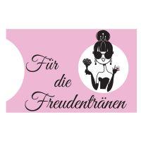 """Taschentuch-Halter """"Freudentränen"""" - Braut"""