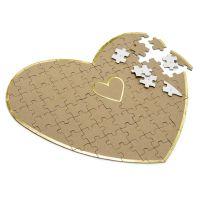 Puzzle-Gästebuch in Herz-Form - Hochzeit
