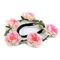 Haarband mit rosafarbenem Blumenkranz