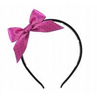 Haarreif mit pinkfarbener Schleife