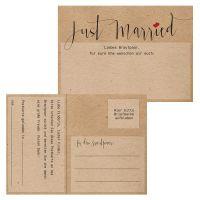 Hochzeit-Ballonflugkarten im Rustic-Nature-Design