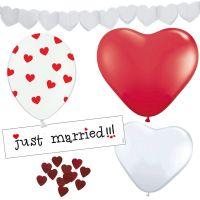 Hochzeit-Deko-Set mit Herzen