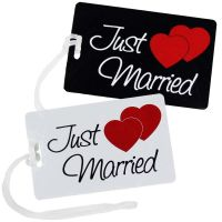 Hochzeitsreise - Kofferanhaenger mit Just Married-Motiv