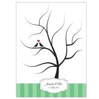 Grüner Hochzeitsbaum - Fingerabdruck-Baum für die Hochzeit