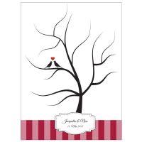 Roter Hochzeitsbaum - Fingerabdruck-Baum für die Hochzeit
