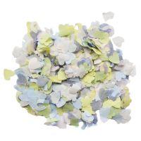 Wurfkonfetti auf Papier mit Hochzeitsmotiven