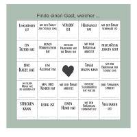 """Hochzeitsspiel """"Gäste-Bingo"""""""