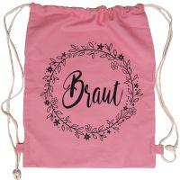 """Rucksack """"Braut"""" - Floral - Rosa"""