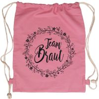 "Rucksack ""Team Braut"" - Floral - Rosa"