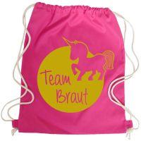 """Rucksack """"Team Braut"""" - Einhorn - Pink"""