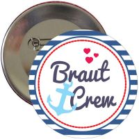 JGA Braut Crew Button mit Anker-Motiv