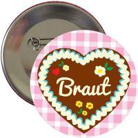 """Button """"Braut"""" - Lebkuchenherz"""