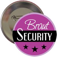 "Button ""Braut Security"" - Lila"