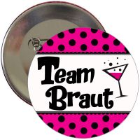 "Button ""Team Braut"" - Polka Dots"