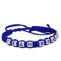 "Armband / Fußband ""Team Braut"" - Blau"
