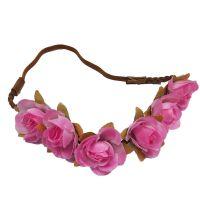 Haarband mit rosafarbenen Blumen