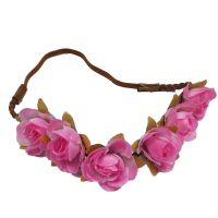 Blumen-Haarband - Rosa
