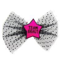 Team Braut-Haarklammer - Pink - Haarschmuck für den JGA