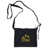 """Handtasche """"Team Braut"""" - Glamour - Schwarz"""