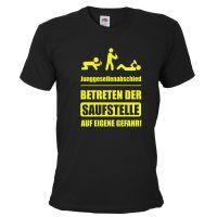 """T-Shirt """"Saufstelle"""" - Schwarz"""