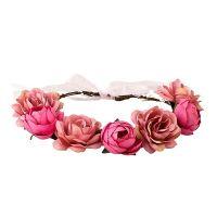 Blumenkranz - Rosa - Kopfschmuck