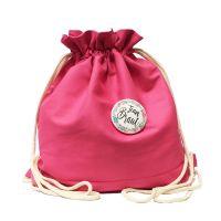 Mini-Rucksack mit Button - Pink