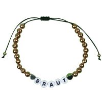 """Perlen-Armband """"Braut"""" - Gold"""