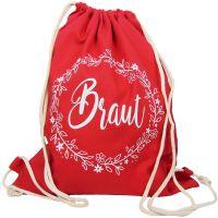 """Rucksack """"Braut"""" - Floral - Rot"""
