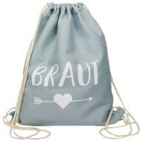 "Rucksack ""Braut"" - Pfeil - Grau"
