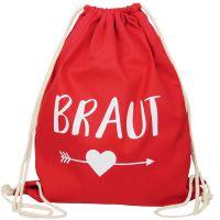 "Rucksack ""Braut"" - Pfeil - Rot"