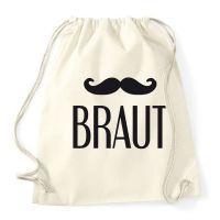 """Rucksack """"Braut"""" mit Schnurrbart"""