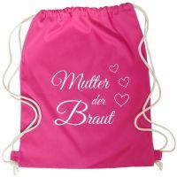 """Rucksack """"Mutter der Braut"""" - Herzen - Pink"""