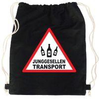 "Rucksack ""Junggesellen Transport"" - Schwarz"