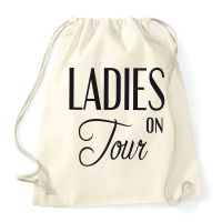 JGA-Rucksack im Vintage-Look mit Ladies on Tour-Motiv