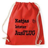Marienkäfer-Tasche für den JGA - mit Namen und Datum personalisiert