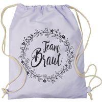 """Rucksack """"Team Braut"""" - Floral - Flieder"""