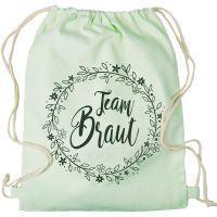 "Rucksack ""Team Braut"" - Floral - Mint"