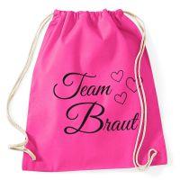 """Rucksack """"Team Braut"""" mit Herzen - Pink"""